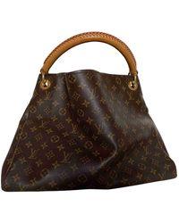 Louis Vuitton Artsy Leinen Handtaschen - Braun