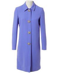 Emilio Pucci Wool Coat - Purple