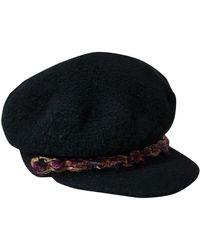 Chanel Gorra de Lana - Negro