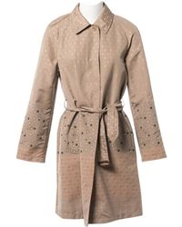Etro - Beige Polyester Trench Coat - Lyst