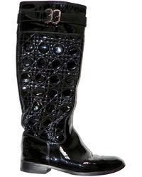 Dior Botas altas de Charol - Negro