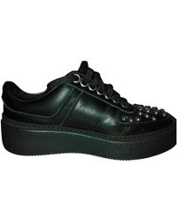 Neil Barrett Black Leather Sneakers