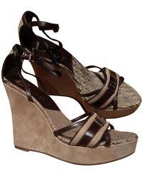 Dior Cloth Sandals - Brown