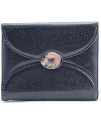 Lancel Black Leather Clutch Bag
