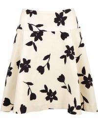Carolina Herrera - Wool Mid-length Skirt - Lyst