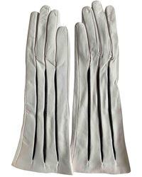 Moschino Guanti lunghi in Pelle - Bianco