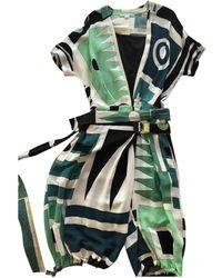 Diane von Furstenberg Silk Jumpsuit - Green
