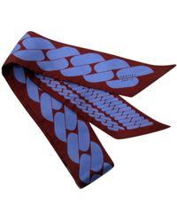 Hermès - Twilly Purple Silk Scarves - Lyst