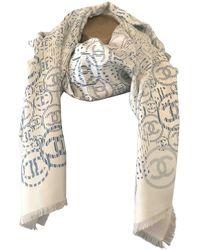 Chanel Sciarpa in seta bianco