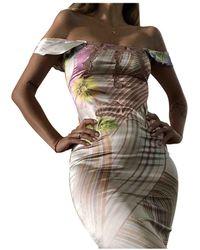 Roberto Cavalli Silk Mid-length Dress - Multicolor