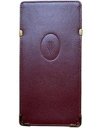 Cartier Burgundy Purses Wallet & Case - Purple