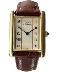 Cartier Orologio in vermeil dorato Tank Must - Multicolore