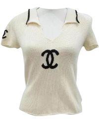 Chanel Beige Cashmere Knitwear - Natural