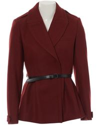 Burberry Burgundy Wool - Red