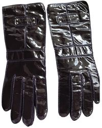 Givenchy Patent Leather Long Gloves - Purple