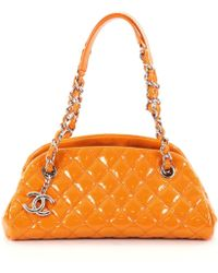 Chanel - Orange Leather Handbag - Lyst