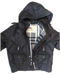 Burberry - Black Polyester Jacket - Lyst