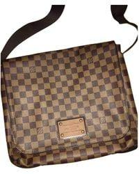 Louis Vuitton Brown Leather Bag