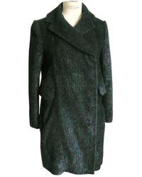Carven \n Black Faux Fur Coat