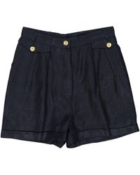 Chanel - Pre-owned Navy Cotton Shorts - Lyst