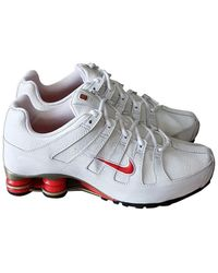 Nike Shox Leather Trainers - White
