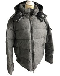 Moncler Cappotto in cotone grigio