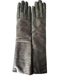 Dior Guantes largos de Cuero - Negro