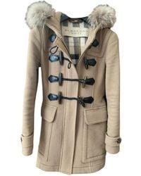Burberry Camel Fur Coat - Natural