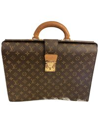 Louis Vuitton Serviette Ambassadeur Cloth Satchel - Brown