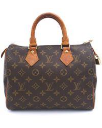 Louis Vuitton - Speedy Brown Cloth Handbag - Lyst