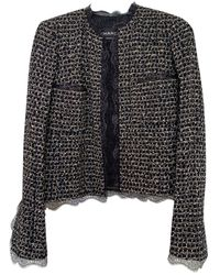 Chanel Tweed Kurze jacke - Schwarz