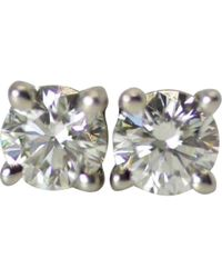 Tiffany & Co. - Silver Platinum Earrings - Lyst