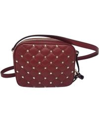 Valentino - Pre-owned B-rockstud Red Leather Handbags - Lyst
