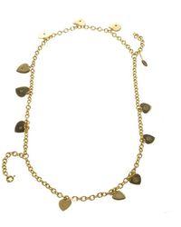 Roberto Cavalli \n Gold Crystal Necklace - Metallic