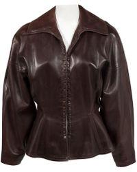 Alaïa - Leather Jacket - Lyst