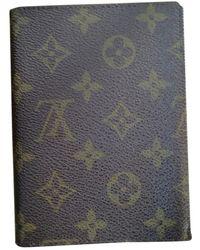 Louis Vuitton Leinen Kartenhalter - Braun