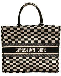 Dior Sac à main Book Tote en Toile Noir