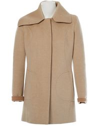 Antonio Berardi Beige Wool Coat - Natural
