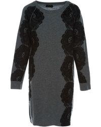 Lanvin - Grey Wool Dress - Lyst