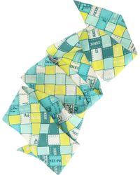 Hermès Twilly Multicolour Silk Scarf - Blue