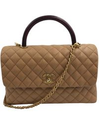Chanel - Coco Handle Other Leather Handbag - Lyst