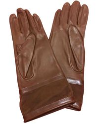 Burberry Brown Leather Gloves