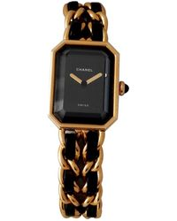 Chanel - Vintage Première Black Gold Plated Watches - Lyst