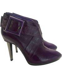 Sergio Rossi - Purple Leather - Lyst