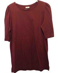 Dries Van Noten - Burgundy Cotton T-shirt - Lyst