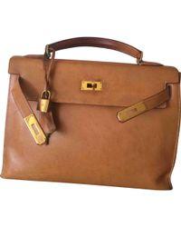 Hermès - Vintage Kelly 32 Camel Leather Handbag - Lyst