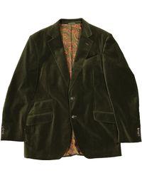 Etro Samt Jacke - Grün
