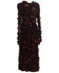 Givenchy Burgundy Silk Dress - Black