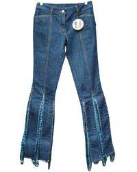 Jean Paul Gaultier Jeans strappati - Blu