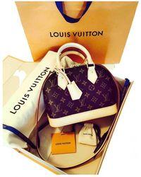 Louis Vuitton Alma BB Leinen Handtaschen - Braun